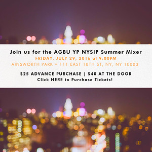 AGBU YP NYSIP Mixer 2016