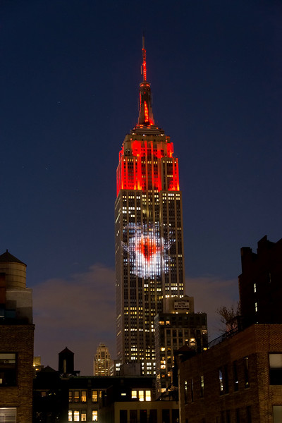 ENDANGERED SPECIES ON THE EMPIRE STATE BUILDING = 01 AUG 2015
