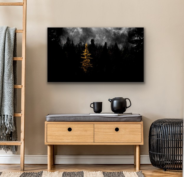 'Lone Larch' Canvas Wrap or Float Mount Metal Print