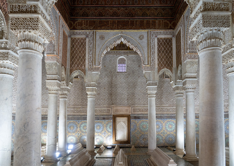 Hall of Twelve Columns at Saadian Tombs