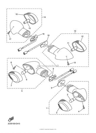 2009 Yamaha YZF-R1 Parts Fiche Images