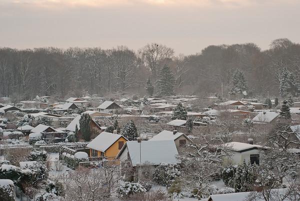 2010-12-21 - winterliche Kleingartensiedlung