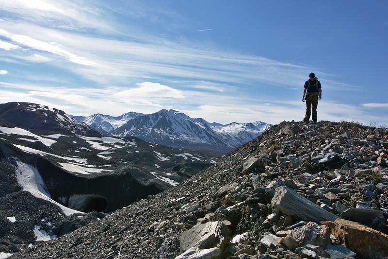 Hiking on the Moraine