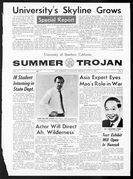 Summer Trojan, Vol. 15, No. 6, July 12, 1965