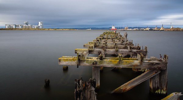 Derelict pier in Leith Harbour