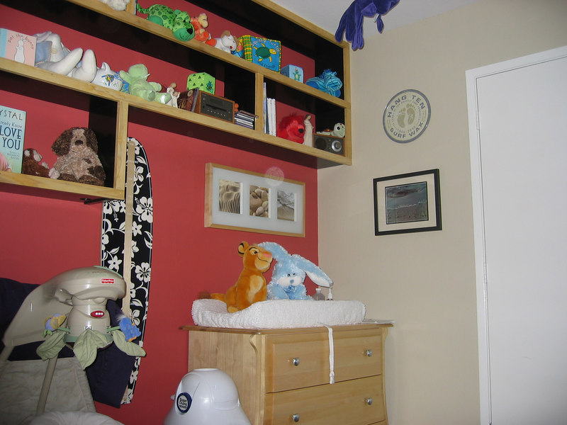Connor's Nursery - The changing table and friends.