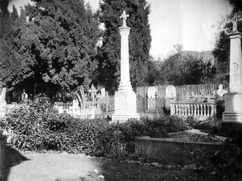 . Circa 1921 - The Mission cemetery are the burial grounds of many pioneers of the area. (Oakland Tribune Staff Archives)