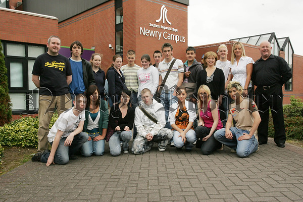 Pictured are some of the school of Hospitality and Tourism pupils from Southern Regional College Newry Campus who are joining over 50,000 full time pupils at each of the six campuses throughout Northern Ireland , the Newry Campus is the only centre of excellence for Hospitality and Tourism in NI. Also pictured are tutors, Jenny Bell, Deboragh Ferguson and Brendan McVeigh. 07W37N15