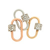 Marla Aaron Stoned Lock for Jewels by Grace Exclusive, Rose Gold 3