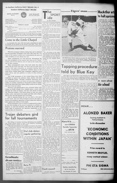 Daily Trojan, Vol. 36, No. 214, October 04, 1945