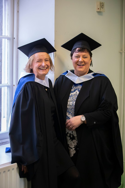 01/11/2019. Waterford Institute of Technology (WIT) Conferring Ceremonies. Pictured are Joan Moffitt from Sligo and Margaret Ryan from Thomastown. Picture: Patrick Browne