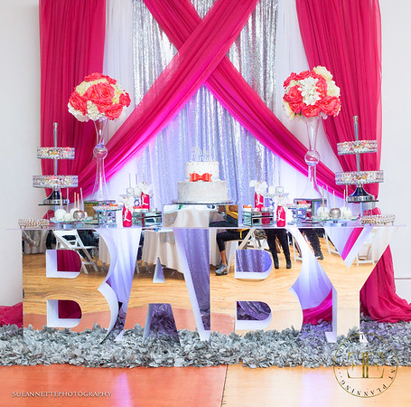 Pink, White & Silver Baby Shower
