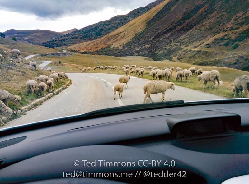 Heavy traffic while crossing Col d'Glandon.