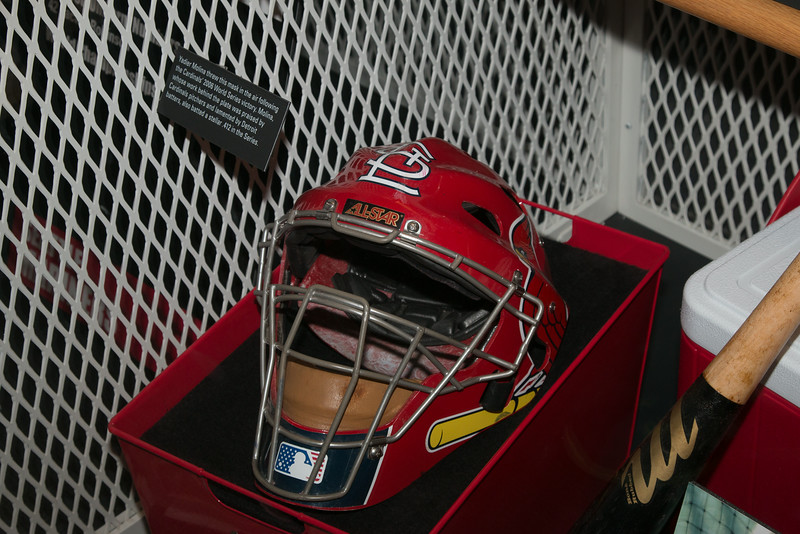 Yadier Molina's catcher's mask (2006 World Series) -- A trip to the Baseball Hall of Fame, Cooperstown, NY, June 2014