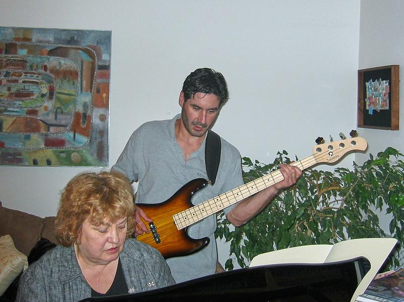 Shirley & Barry Lebin, bass, Greensburg, PA. August 2003.