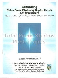 UGMBC 67th Church Anniversary Service