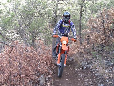 Cedro Peak-Tunnel Canyon-Otero Canyon ST Ride  12-3-12