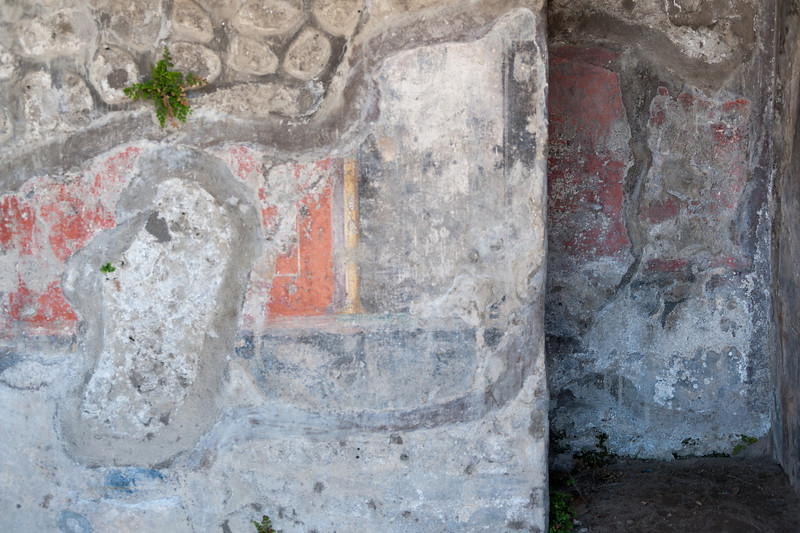 More paintings on walls in Pompeii, Italy