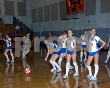 Marshall County Volleyball vs Lone Oak, August 25, 2009.  Lady Marshals Lost 3 Games To 1.