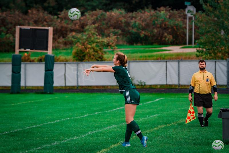 Holy Family Girls Varsity Soccer vs. Shakopee, 9/21/19: Ella Haley '20 (4)