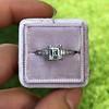 1.19ct Art Deco Carre Cut Diamond Solitaire 16