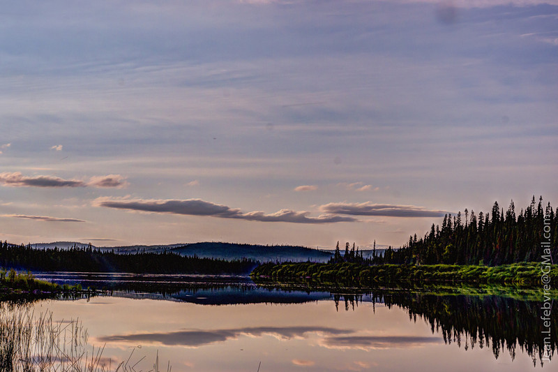 Late Evening light on the Ashuapmushuan River in Northern Quebec