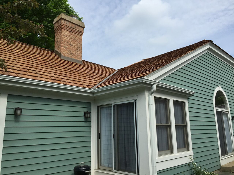 A beautiful cedar shake roofing project for our clients in Barrington IL