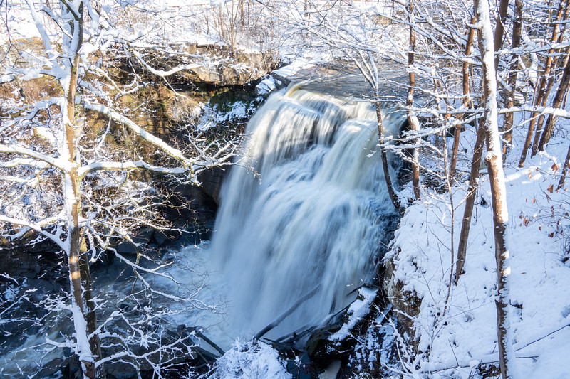 Brandywine Falls in winter