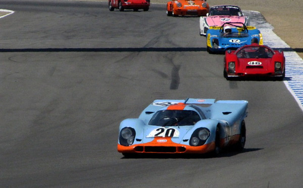 Monterey Historics Paddock and Porsches