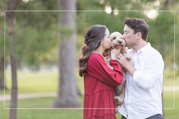 Happy engagement session at Hermann Park in Houston Texas
