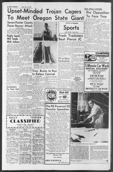 Daily Trojan, Vol. 54, No. 68, February 22, 1963