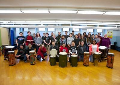 Taiko drums workshop