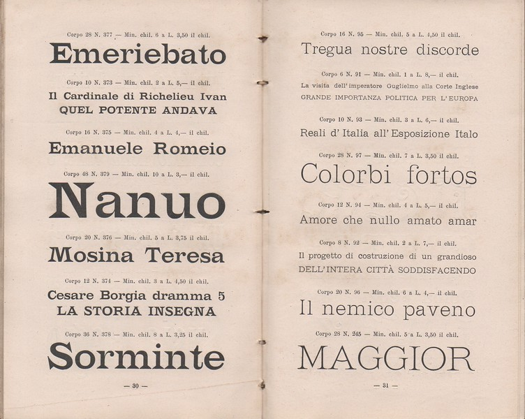 Pocket catalog of the Carlo Redaelli Foundry in Milan with headquarters in via Carroccio 3. End of the 19th century.