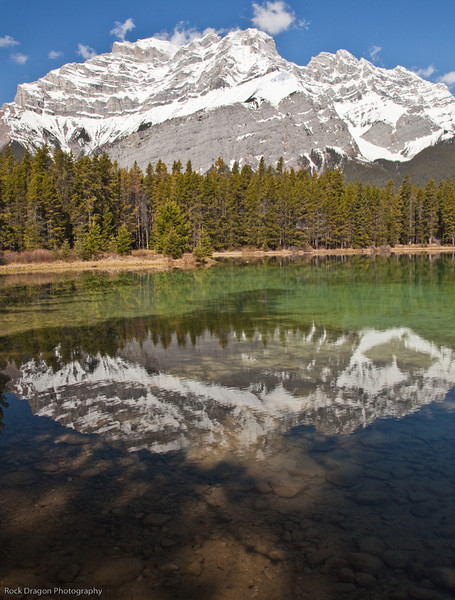 Cascade Mountain and Two Jack Lake in Banff National Park