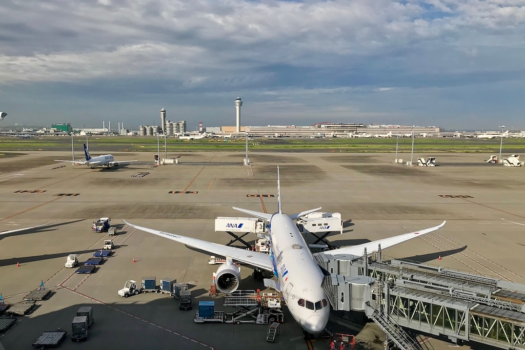 View from the observation deck at Haneda Airport.