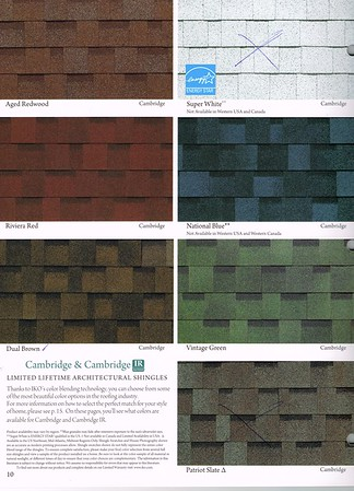 Shingle Colours