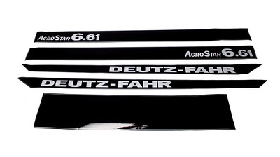 DEUTZ AGROSTAR 6.61 SERIES BONNET DECAL SET
