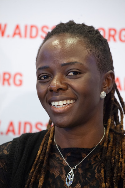 The Netherlands, Amsterdam, 25-7-2018. Press conference: The future of HIV funding. Maureen Milanga, activist Kenia.Photo: Rob Huibers for IAS. (Please publish always with complete attribution).