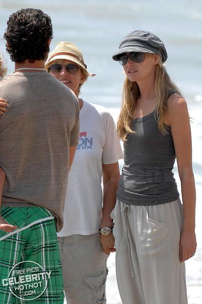 Gavin Rossdale Bumps Into Ellen DeGeneres and Portia de Rossi, Malibu