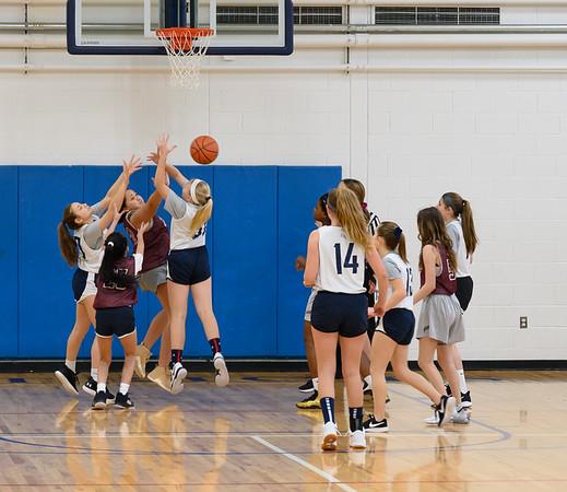 Patriot grade 8 girls vs St. Lukes Basketball
