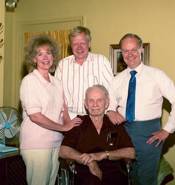 Grandpa with his three children