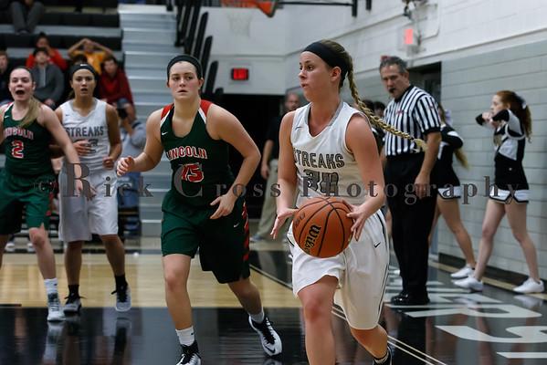 Galesburg Girls Varsity Basketball vs Lincoln Dec. 6, 2016