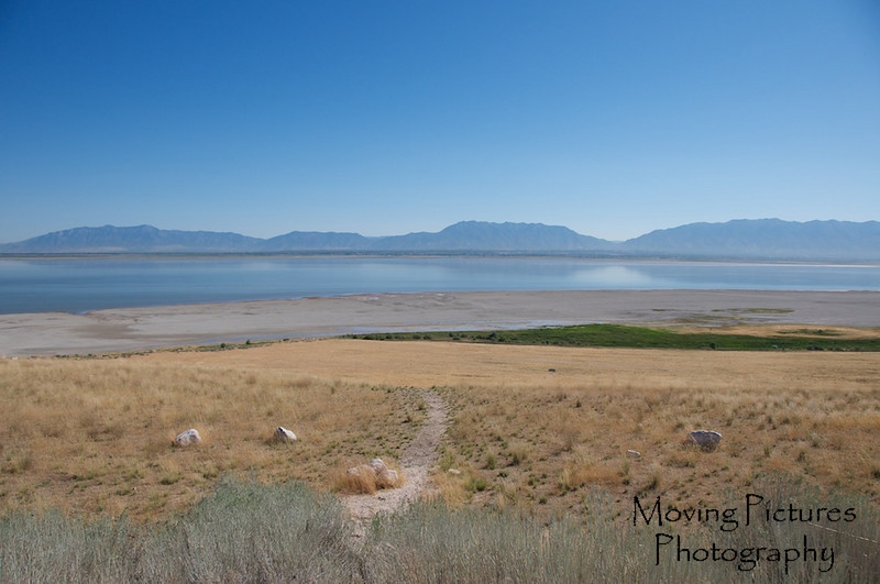 View from Antelope Island, back toward mainland
