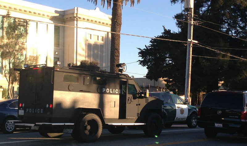 ". Reinforcements were brought to the situation at North Branciforte and Water Street following two shootings in Santa Cruz, Calif., that <a href=""http://www.santacruzsentinel.com/localnews/ci_22674808/breaking-2-officers-1-suspect-shot-santa-cruz\"">took the lives of two police officers and a suspect</a> on Tuesday, Feb. 26, 2013. (Jessica M. Pasko/Sentinel)"