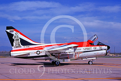 Air National Guard A-7 Corsair II Airplanes in Bicentennial Color Scheme