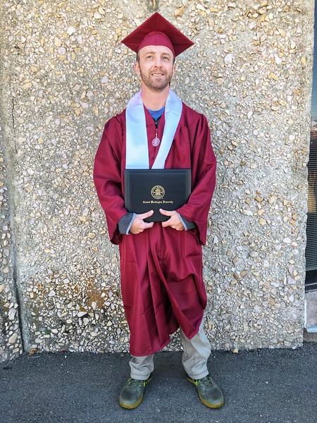 Graduation from Central Washington University, 2019