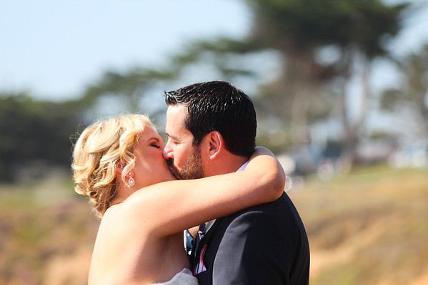 Christy and Phil married on Moonstone Beach