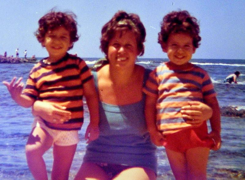Avec Gabriella, Aout 1975.