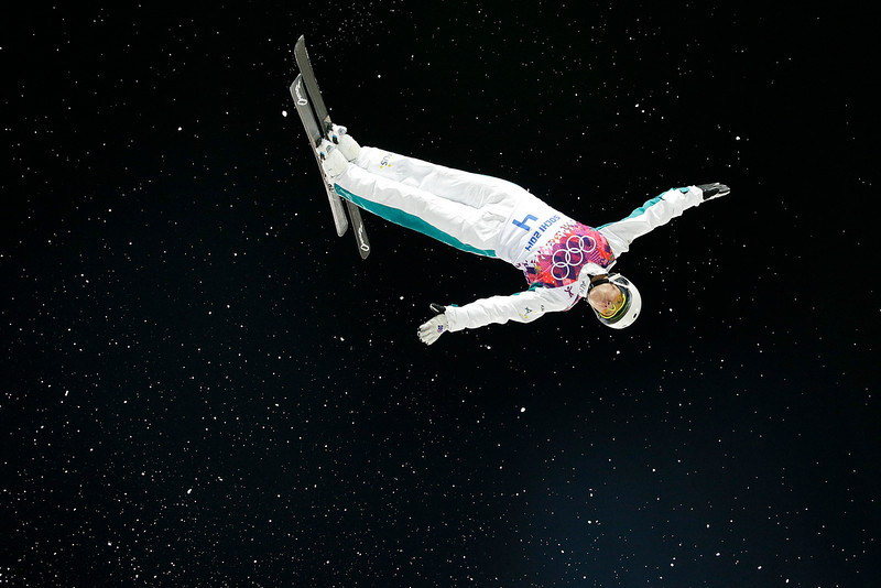 . Australia\'s Lydia Lassila competes during the women\'s freestyle skiing aerials final at the Rosa Khutor Extreme Park, at the 2014 Winter Olympics, Friday, Feb. 14, 2014, in Krasnaya Polyana, Russia. Lassila won the bronze medal. (AP Photo/Jae C. Hong)