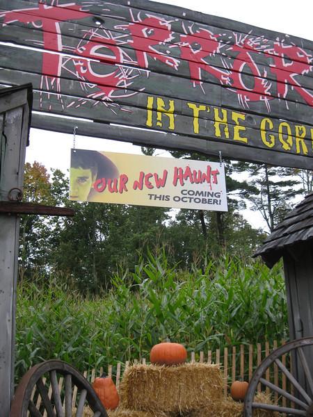 Terror in the Corn haunt sign.